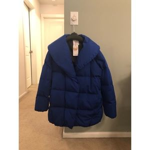 Brand New Mango Quilted Feather Coat